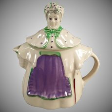 Vintage Granny Ann Shawnee Teapot  - Purple and Green Version