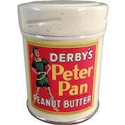 Vintage Sample Peanut Butter Tin -  Derby's Peter Pan Peanut Butter Sample Tin