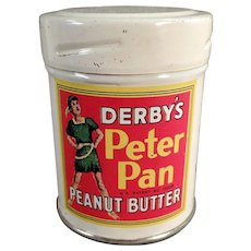 Vintage Sample Peanut Butter Tin -  Derby's Peter Pan Peanut Butter Sample Tin