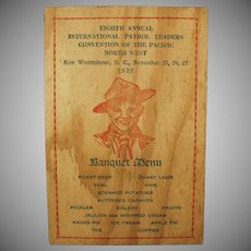 1927 Boy Scout Banquet - Vintage Menu and Program - Nice Image