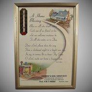 Vintage Motto - A Home Blessing Prayer - 1957 Calendar