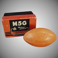 Vintage Football Soap Bar - Intercollegiate Football with Original Box