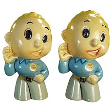 Vintage Salt and Pepper Set -  Lennie Lennox Figural Advertising Set ca. 1950