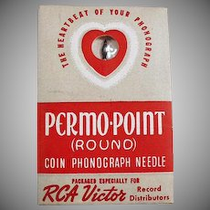 Vintage Coin Phonograph Needle - RCA Victor Permo-Point