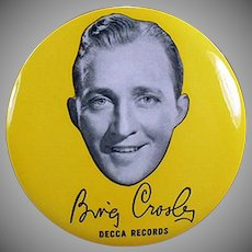 Vintage Record Duster - Bing Crosby Decca Records Advertising