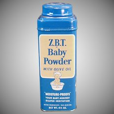 Vintage Baby Talc Tin - Z.B.T. Baby Powder Tin