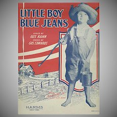 Vintage Sheet Music - Little Boy Blue Jeans by Gus Kahn - 1928