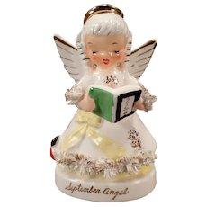 Vintage September Birthday Angel – Sweet Napco Porcelain Figure