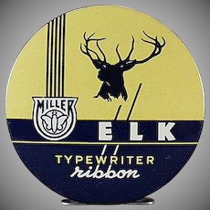 Vintage Typewriter Ribbon Tin - Miller Elk
