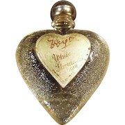 Vintage Perfume Bottle - Little White Shoulders Sample - Heart Shaped Bottle with Original Label