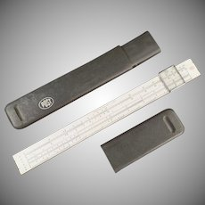 Vintage Slide Rule with Magnifier - Hemmi Japan - Post #1447 with Case