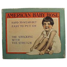 Vintage Baby Stockings Box - American Baby Hose Box