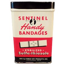 Vintage Sentinel Handy Bandages Tin – Old Bandaid Tin