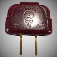 Vintage Bakelite Winker Plug Adapter – Light Blinker - Flasher Perfect for Christmas Lights