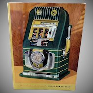 Vintage Mill's Bell-O-Matic Slot Machine Advertising – Colorful Gambling Memorabilia