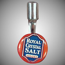 Vintage Pencil Clip - Royal Crystal Salt Advertising - Celluloid