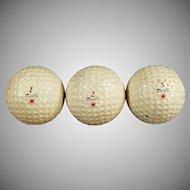 Vintage Dunlop Maxfli Golf Balls - Three Golf Balls
