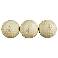 Vintage Dunlop Maxfli Golf Balls - Three Golf Balls