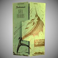 Vintage Anthony's Fish Grotto Menu - Souvenir Menu Postcard Mailer