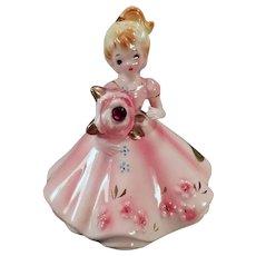 Vintage Josef Original - January Birthday Girl with Garnet Flower – Original Label