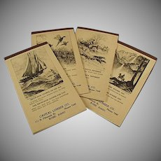 Vintage Idaho Lumber Company Notepads with Etching by R.H. Palenske