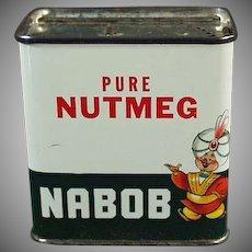 Vintage Spice Tin -  Nabob Nutmeg Spice Tin from Canada