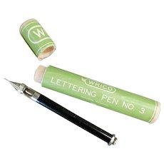 Vintage Inking Pen - Wrico #3 Inking Pen with Original Box