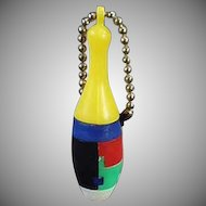 Vintage Puzzle Key Chain - Skinny Bowling Pin Dexterity Puzzle