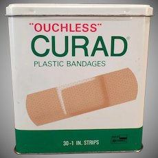 Vintage Band-aid Tin - Curad Ouchless Bandages Tin