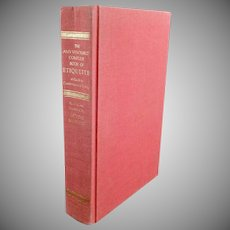 Vintage Hardbound Book -  Amy Vanderbilt Complete Book of Etiquette - 1978