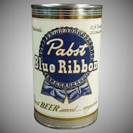 Vintage Tin Bank - Pabst Blue Ribbon Beer Tin - Advertising Promotional Bank