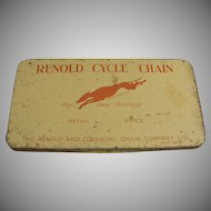 Vintage Tin - Renold Cycle Chain - Bicycle or Motorcycle Chain Tin