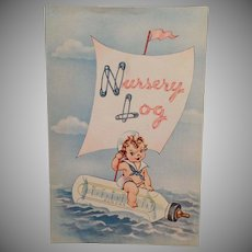 Vintage Nursery Log Baby Booklet – Child Growth Book – Cute Graphics