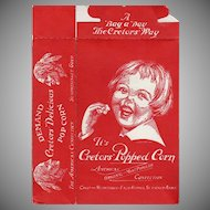 Vintage Popcorn Box - Cretor's Popcorn with Happy Child's Face