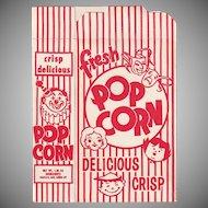 Vintage Popcorn Box - Striped Popcorn Box - Never Used