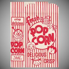 Vintage Popcorn Box - Striped Popcorn Box - Never Used