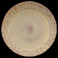 Vintage Frankoma - Mayan-Aztec 7FL Dinner Plate – Desert Gold – Three Available