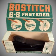 Vintage Paper Stapler - 1940's Bostitch B-8 Fastener with Original Box
