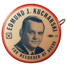 Vintage Political Campaign Ad - Old Celluloid Advertising Tape Measure - 1956 Republicans