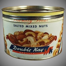 Vintage Nut Tin - Double Kay Mixed Nuts - Kelling Nut Co.