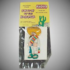 Vintage Souvenir Toy -  Old South of the Border Souvenir - Pedro Sticker