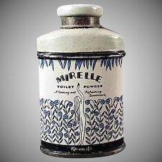 Vintage Talc Tin - Miniature Kleinert's Mirelle - Sample Talc Tin
