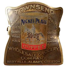 Vintage Nickel Plate Coffee Brass Paper Clip – Old Townsend Grocery Advertising