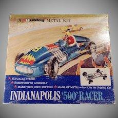 Vintage Hubley Scale Model Kit - Metal Kit - Indianapolis 500 Race Car - #852K-300
