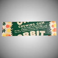 Vintage Chewing Gum - Wrigley's Orbit - Old Stick of Gum Not the New Stuff