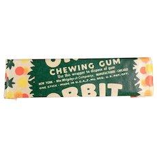 Vintage Chewing Gum - Wrigley's Orbit Stick of Gum - 1940's