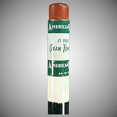 Vintage Wood Pencil - American Linen Supply Company Advertising