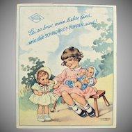 Vintage Rheinische Gummi Celluloid Dolls Booklet - Old Turtle Mark Dolls
