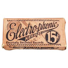 Vintage Steel Phonograph Needles - Electro-Phonic Loud Tone Box with Old Steel Needles