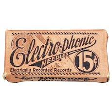 Vintage Steel Phonograph Needles - Electro-Phonic Loud Tone Box with Old Steel Needles